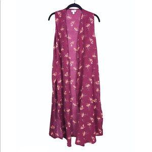 NWT LuLaRoe Colorful Floral JOY Boho Duster Vest